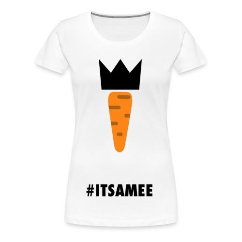 CARROT AND ITSAMEE black - Women's Premium T-Shirt