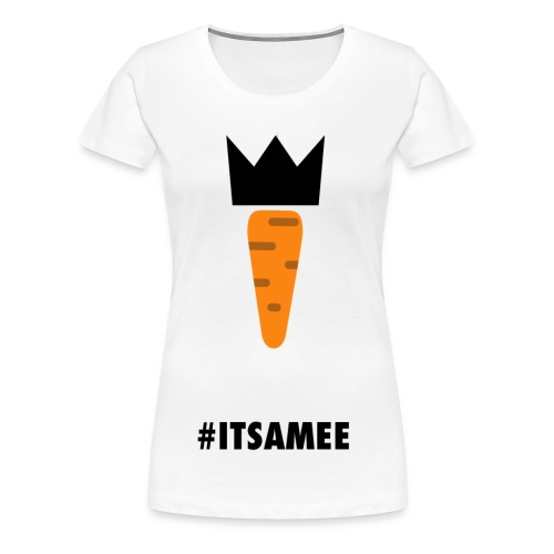 CARROT AND ITSAMEE black - Women's Premium T-Shirt