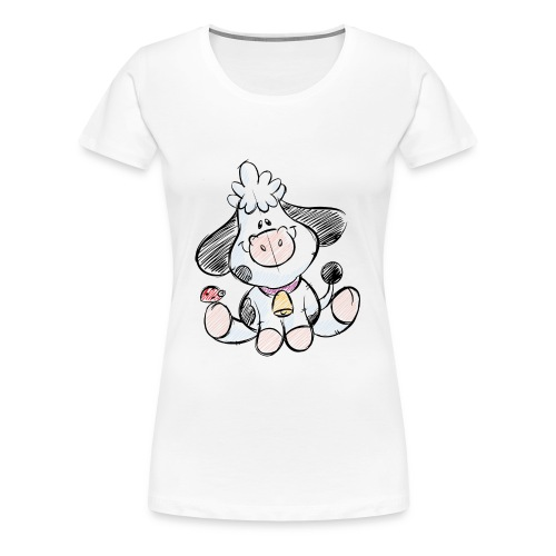 cow funny love animals and pets - Women's Premium T-Shirt