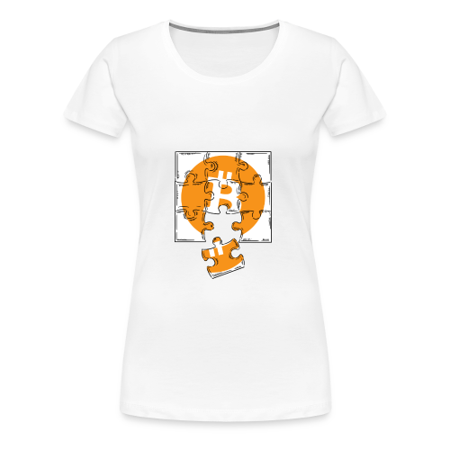 Bitcoin coin. Bitcoin logo t-shirt. Crypto Puzzle - Women's Premium T-Shirt