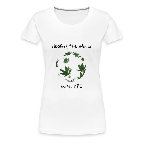 Healing the World with CBD - Women's Premium T-Shirt