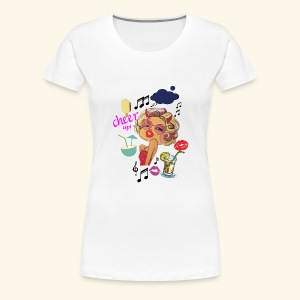 Pop Art Woman, Cheer Up Lady in Love - Women's Premium T-Shirt