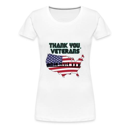 Memorial Day Tee - thank you veterans - Women's Premium T-Shirt