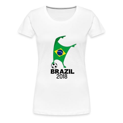 Brazil Flag 2018 Football Cup Soccer Dabbing World Jersey - Women's Premium T-Shirt