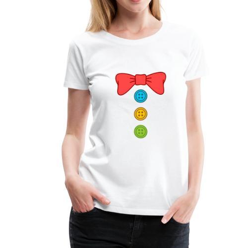 Clown Bow Tie and Buttons Costume Suit - Women's Premium T-Shirt
