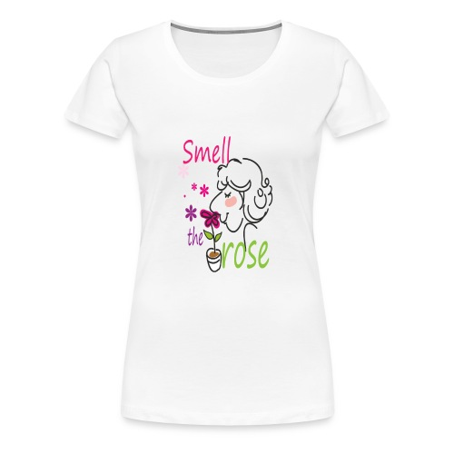 smell the rose - Women's Premium T-Shirt