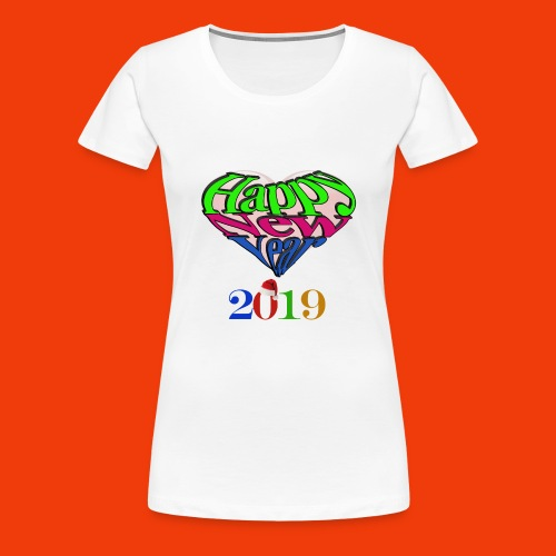 Happy new year 2019 T-shirt for all With heart - Women's Premium T-Shirt