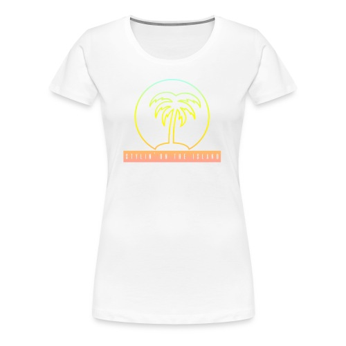 Stylin On The Island PNG - Women's Premium T-Shirt