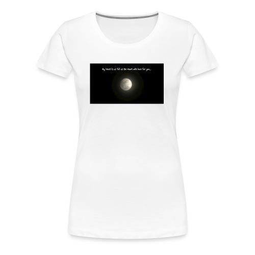 Full Moon Love - Women's Premium T-Shirt