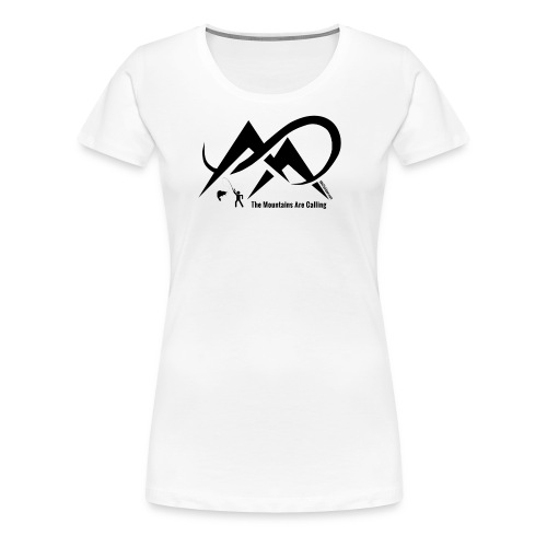 Fishing - The Mountains Are Calling - Black Logo - Women's Premium T-Shirt