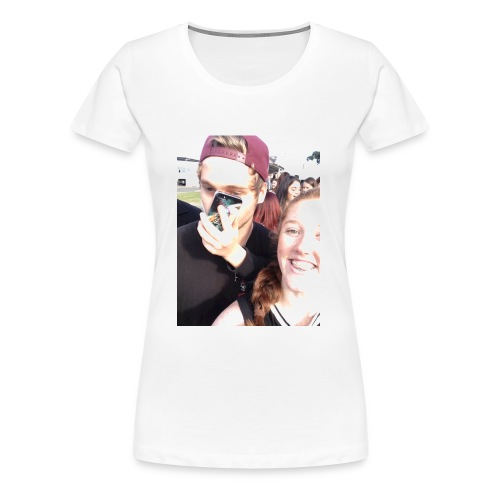 Luke Hemmings with a phone in his face - Women's Premium T-Shirt