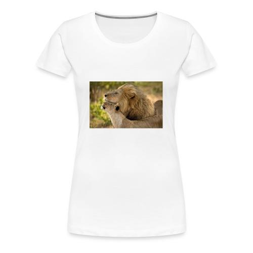lions in love - Women's Premium T-Shirt
