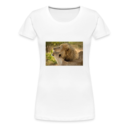 lions in love - Women's Premium T-Shirt