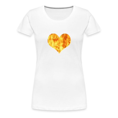 fire heart - Women's Premium T-Shirt