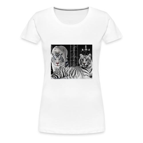 white tigers - Women's Premium T-Shirt