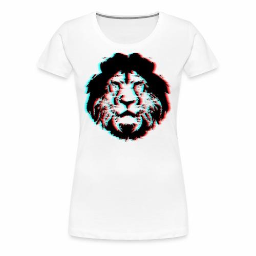 3D Lion Face - Women's Premium T-Shirt