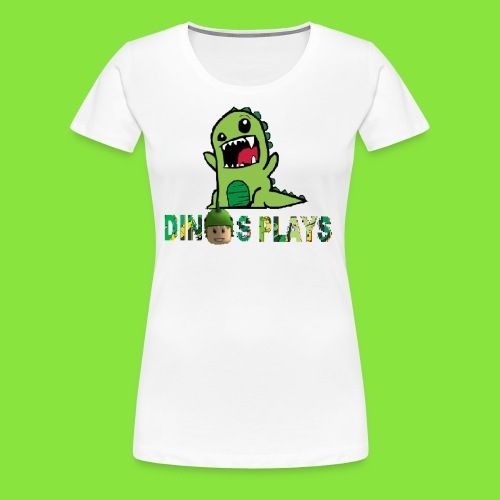 dinos plays - Women's Premium T-Shirt