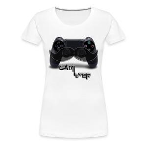 ps4 dual shock 4 moustache - Women's Premium T-Shirt