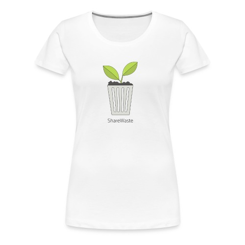 ShareWaste logo - Women's Premium T-Shirt