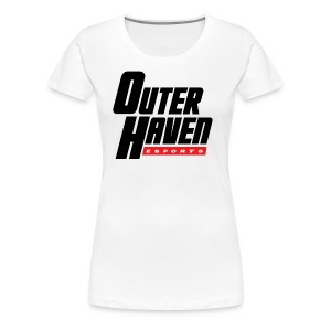Outer Haven Black Large Logo - Women's Premium T-Shirt