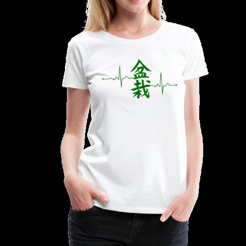 Bonsai Shirt Calligraphic Heartbeat t-shirt Gift - Women's Premium T-Shirt