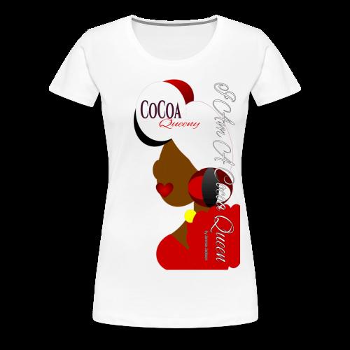 Cocoa Queen Head Tie Red - Women's Premium T-Shirt