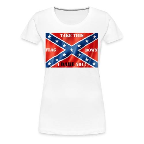 Confederate flag2 - Women's Premium T-Shirt