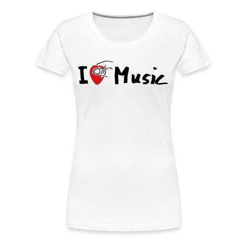 I Love Music I love music guitar guitarist - Women's Premium T-Shirt