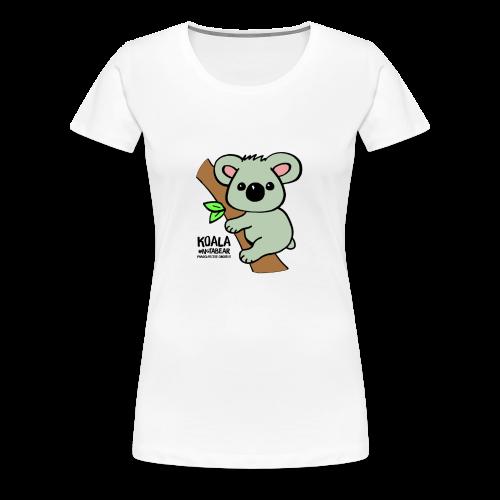 Koala Cute. Art by Paul Bass, assisted by Mollie. - Women's Premium T-Shirt