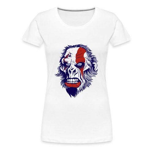 funny t shirt design with gorilla - Women's Premium T-Shirt