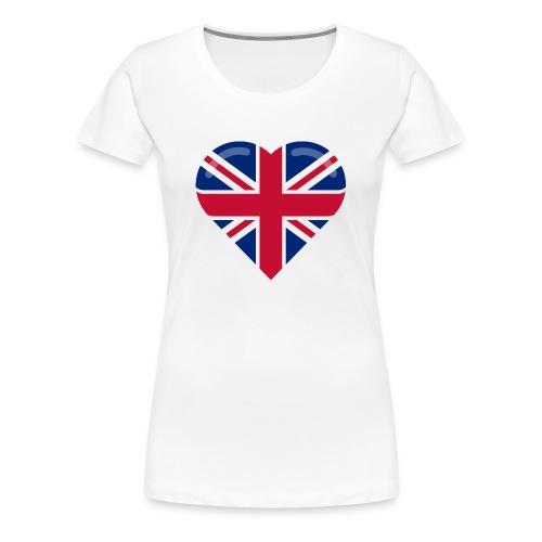 brit heart - Women's Premium T-Shirt