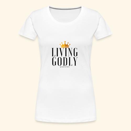 Living Godly Ministry Logo Tee - Women's Premium T-Shirt