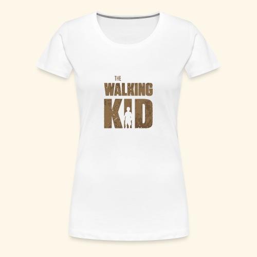 Walking Kid Logo Humour Funny - Women's Premium T-Shirt