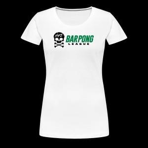 Bar Pong League Wide Logo - Women's Premium T-Shirt
