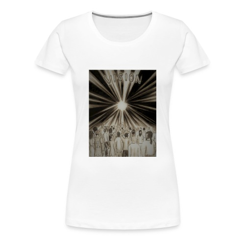Black_and_White_Vision2 - Women's Premium T-Shirt