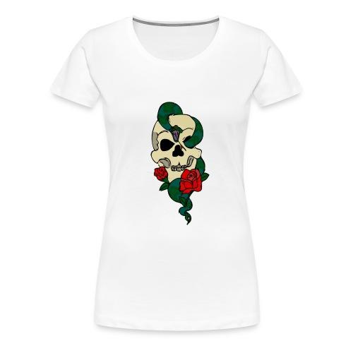 Skull and rose - Women's Premium T-Shirt