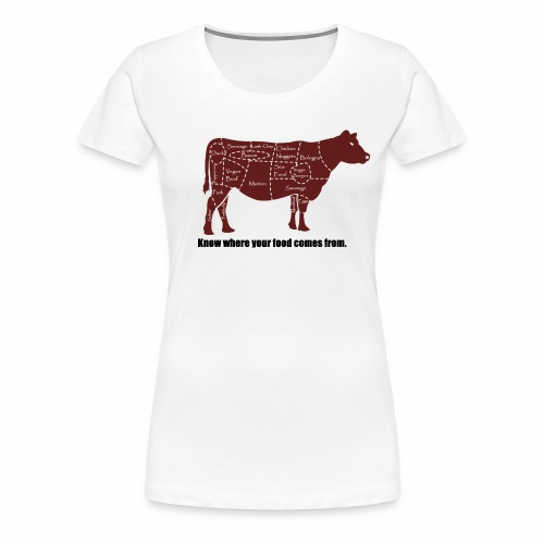 Cuts of the Cow - Women's Premium T-Shirt