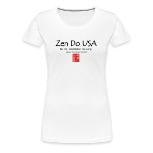 Zen Do USA logo and cell phone clothing busshist - Women's Premium T-Shirt