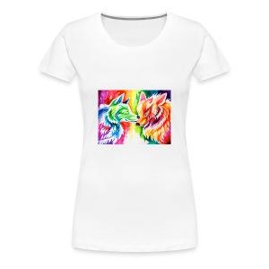 cute wolf - Women's Premium T-Shirt