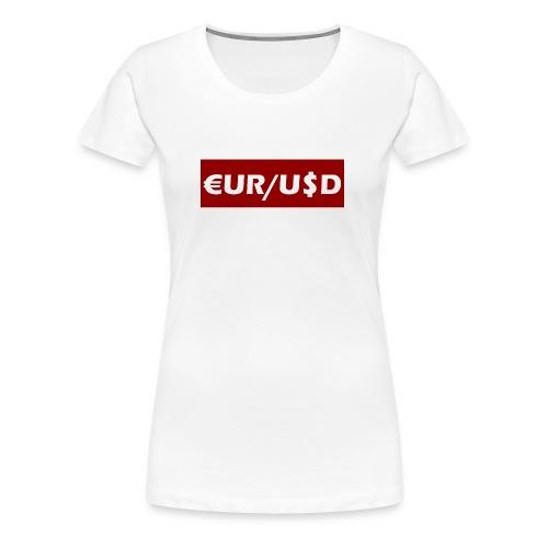 EUR/USD - Women's Premium T-Shirt