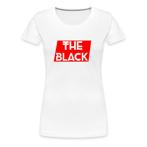 The Black Logo [Red Supreme Look] - Women's Premium T-Shirt
