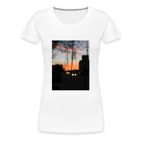 A blurry sunset - Women's Premium T-Shirt