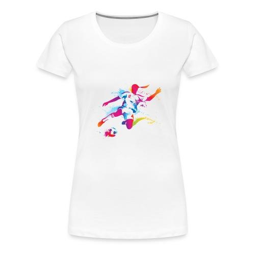 Women's Soccer Color Splatter - Women's Premium T-Shirt