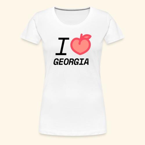 I Peach Georgia - Women's Premium T-Shirt