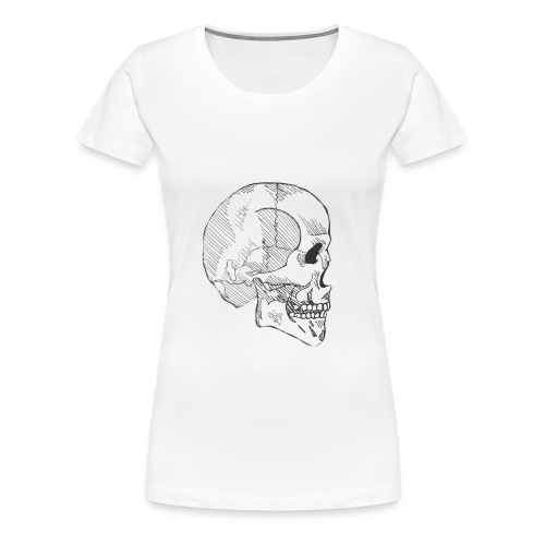 Hashed Skull - Women's Premium T-Shirt