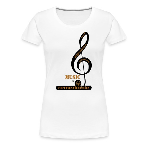 Remarkable Music - Women's Premium T-Shirt