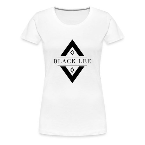 Black Lee Logo Transparent Black - Women's Premium T-Shirt