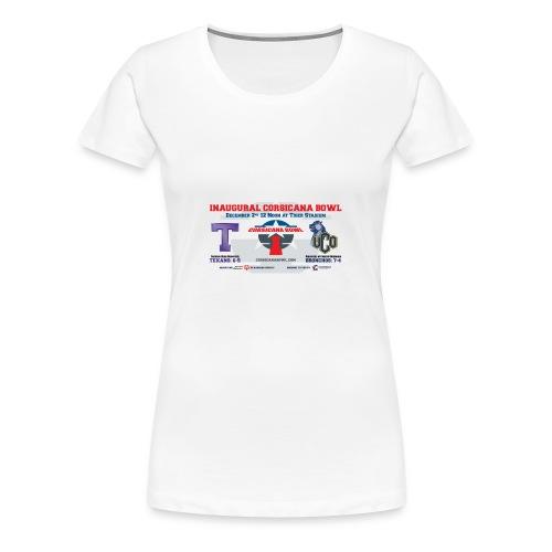 Official Corsicana Bowl Merchandise - Women's Premium T-Shirt
