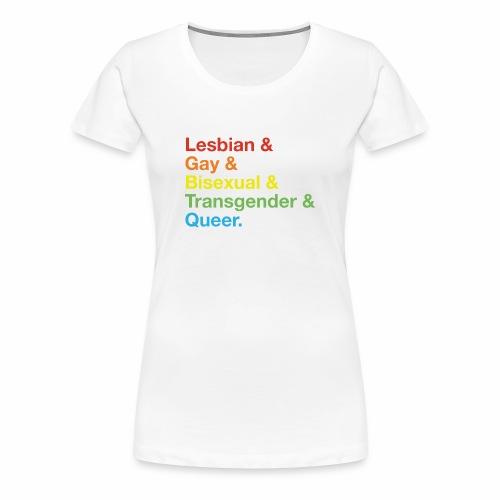 LGBTQ & Helvetica - Women's Premium T-Shirt