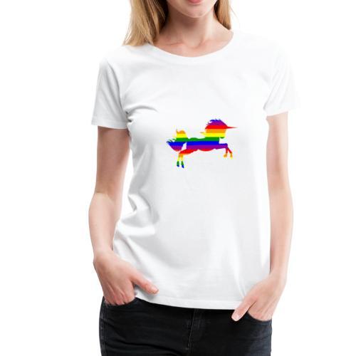 Unicorn in Rainbow Pride flag colors - Women's Premium T-Shirt